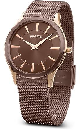 Reloj Duward para Caballero colección Elegance Flat de acero: Amazon.es: Relojes