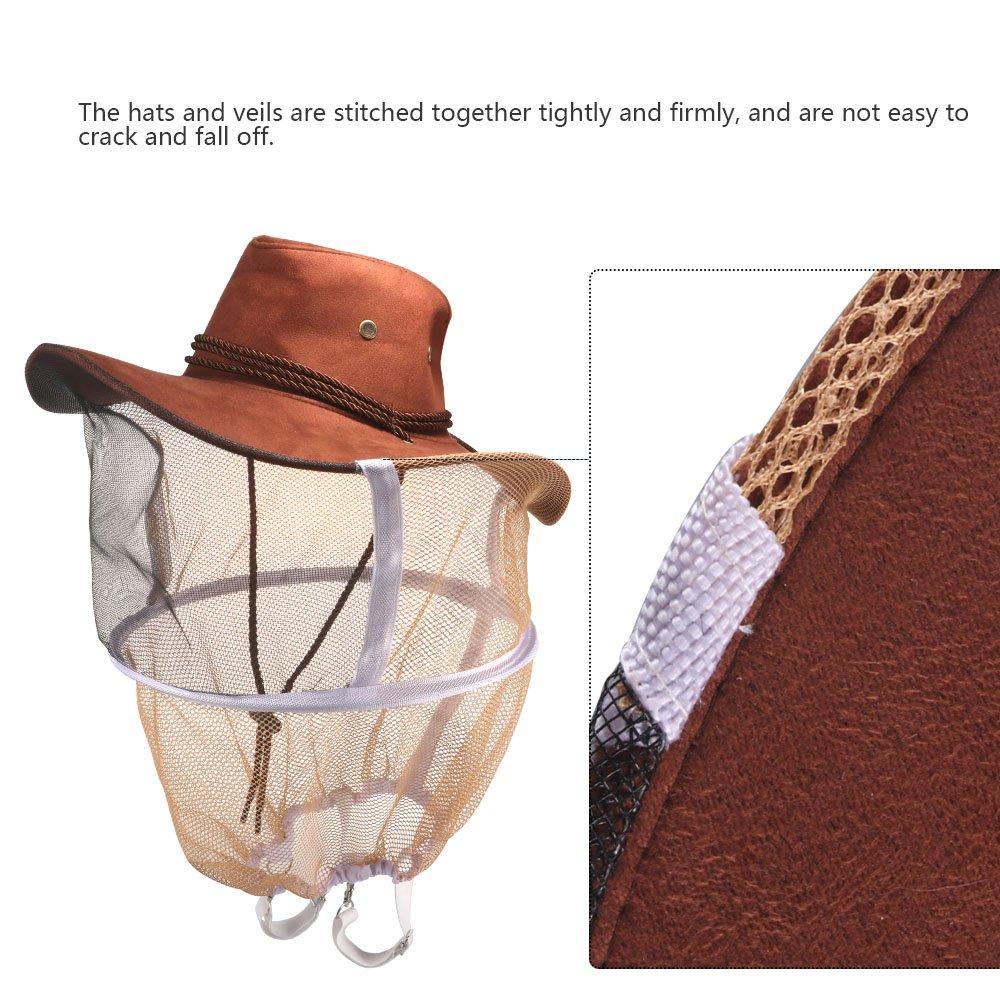 pour la P/êche Chapeau Protecteur dapiculture de Chapeau Chapeau Anti-Abeille Casques ONEVER Chapeau DAbeille Protecteur de Visage-T/ête portatif pour Apiculteur
