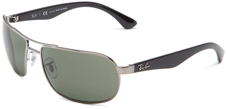 d2299ebd44 Ray-Ban 3492 004 58 Gunmetal 3492 Square Aviator Sunglasses Polarised Lens  Cate  Ray-Ban  Amazon.co.uk  Clothing