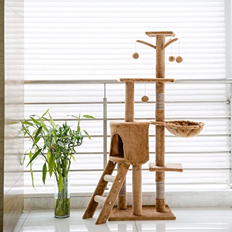 Amazon.com : Cat Activity Play Tree House Furniture Kitty Condo ...