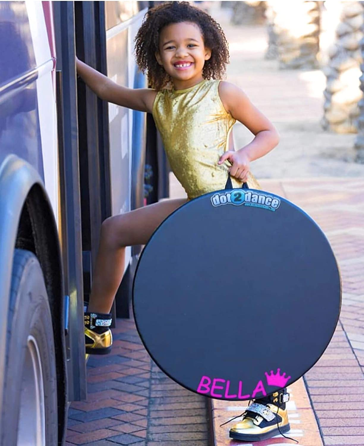 Multi-Use with Gym MAT Back dot2dance,Genuine Brand 4 Sizes Turn Board,Tap Board /& Beyond.Its Your Safe SPOT on a Authentic Marley DOT Authentic Marley Portable Dance Floor