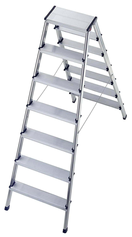 Tap 32150 – Escalera doble (aluminio, 2 x 7 peldaños 154 cm x 53 cm x 138 cm) carga 150 kg: Amazon.es: Industria, empresas y ciencia