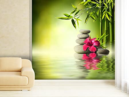 Photo Wallpaper Hibiscus On Or Bamboo In Various Sizes Paper