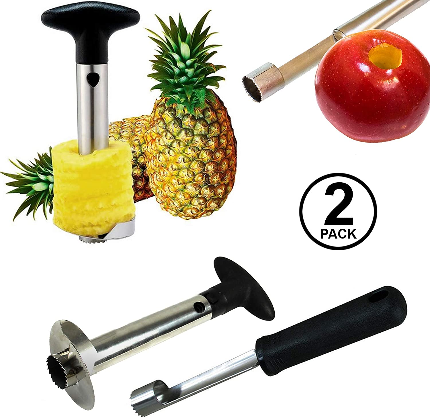 Pineapple Corer and Apple Corer - Pineapple Corer Slicer Peeler Stainless Steel