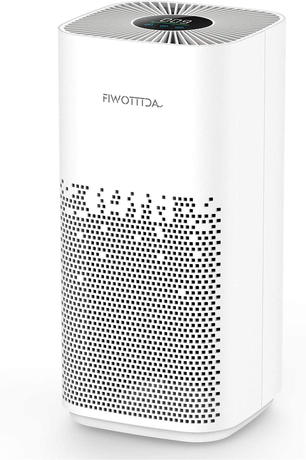 FIWOTTTDA Air Purifier for Home Large Room Allergies and Pets Hair Smokers in Bedroom, 1540 Sq Ft Coverage, H13 True HEPA Filter, Remove 99.97% Dust Smoke Pollen, White