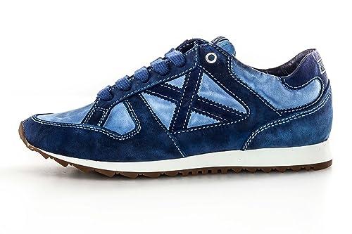 Pelle Sneakers Tessuto Azzurra Ragazzo E Uomo Bassa Scarpe Munich In dosrxQCthB