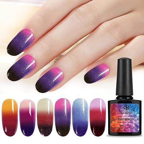 Esmalte de uñas Saviland de gel que cambia de color, 6 unidades
