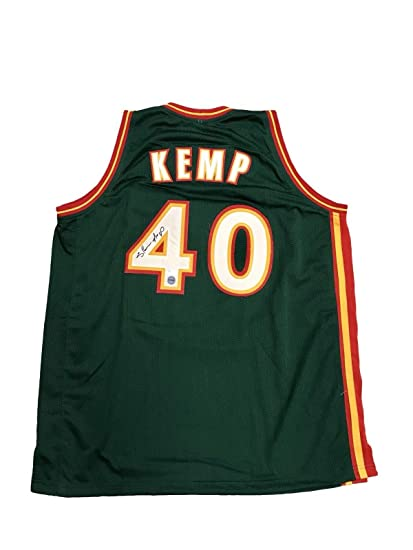 8db65e0e9c9 Image Unavailable. Image not available for. Color: Signed Shawn Kemp Jersey  ...