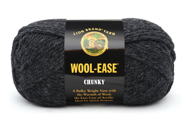 Paquete De 4 Lion Brand scarfie voluminosos Hilo de Lana de Arándano//Negro