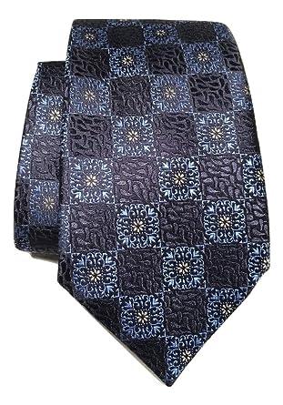 f8676834 New Men's Ermenegildo Zegna Medallion Print Navy Italian Silk Tie at ...