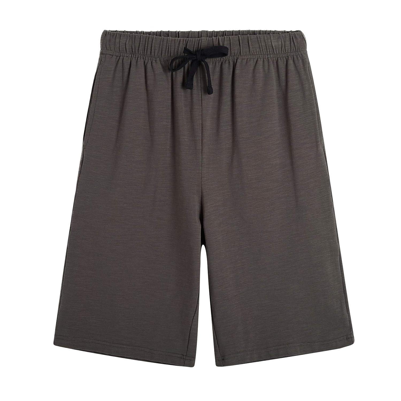 Dark Grey OThread & Co. Women's Cotton Pajama Shorts Soft Drawstring Sleepwear Pants