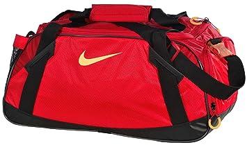 a33c48af482c NIKE Varsity Girl 2.0 Medium Duffel Bag Gym Bag--Red Black  Amazon ...