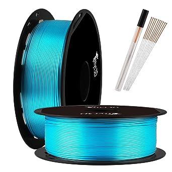 Filamento para impresora 3D TTYT3D Shine Silk de color azul ...