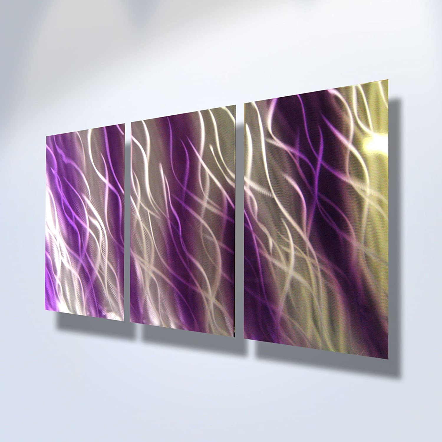 Amazon.com Metal Wall Art Modern Home Decor Abstract Artwork Sculpture- Purple Reef by Miles Shay Home u0026 Kitchen & Amazon.com: Metal Wall Art Modern Home Decor Abstract Artwork ...