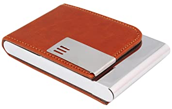 7trees pu leather magnetic closure brown business card holder 7trees pu leather magnetic closure brown business card holder colourmoves