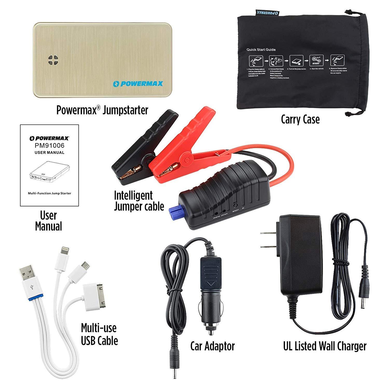 Amazon.com: Powermax 300 A Pico 6000 mAh arrancador de ...