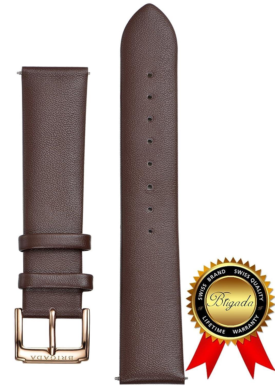 39661ed3b7 20 ( Men Brigadaファッションソフト快適なレザー腕時計バンド交換用for mm標準長) B06XGVD2ZF -時計バンド