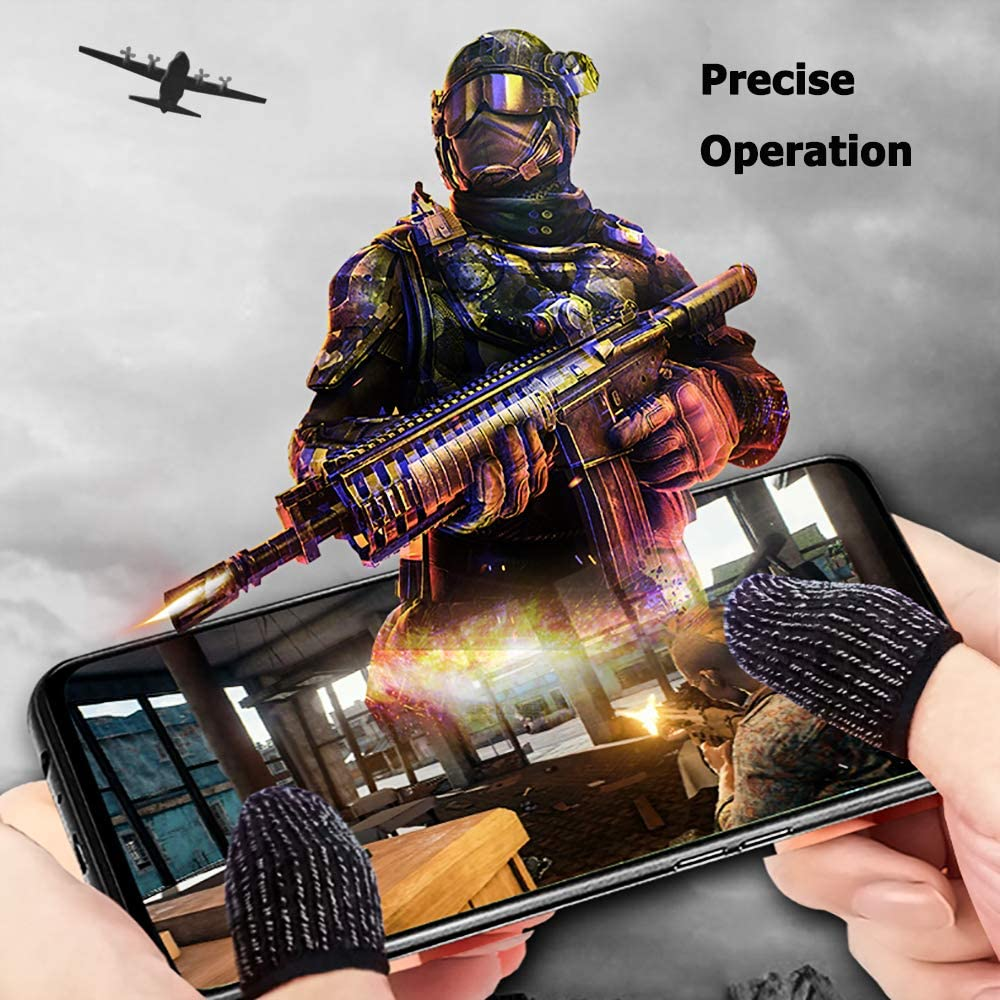 iPhone/iOS/Android Mobile Gaming Controller Thumb Sleeve L1R1 ...