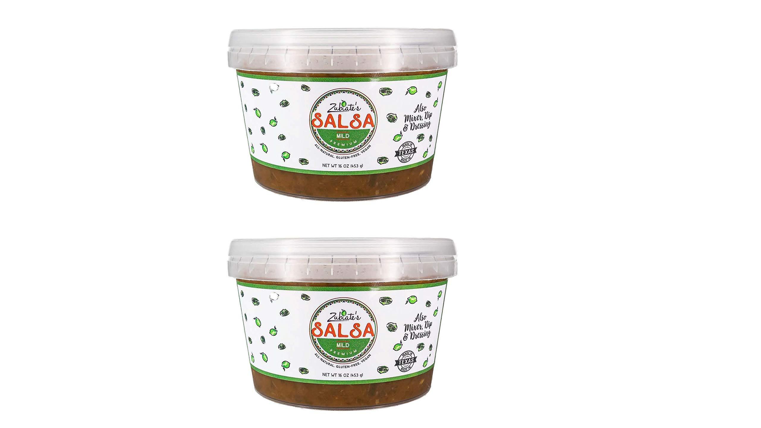 Zubiates Cocina, Fresh & All Natural Salsa,16 oz (Mild, ...