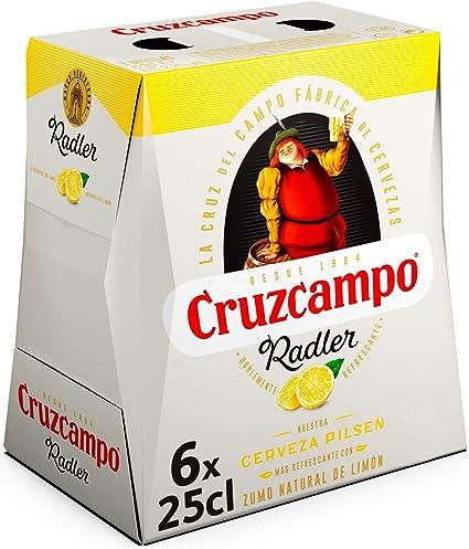 Cruzcampo Radler Limon Cerveza - Pack de 6 Botellas x 250 ml (Total: 1.5 L): Amazon.es: Alimentación y bebidas
