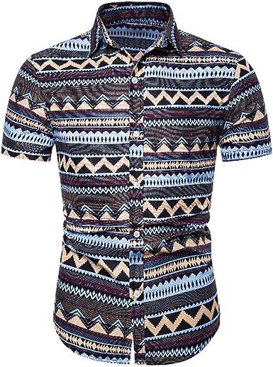 Camisa Hawaiana para Hombre, Playera Tropical de Playa, Casual, Floral, Manga Corta, impresión de Verano: Amazon.es: Ropa y accesorios