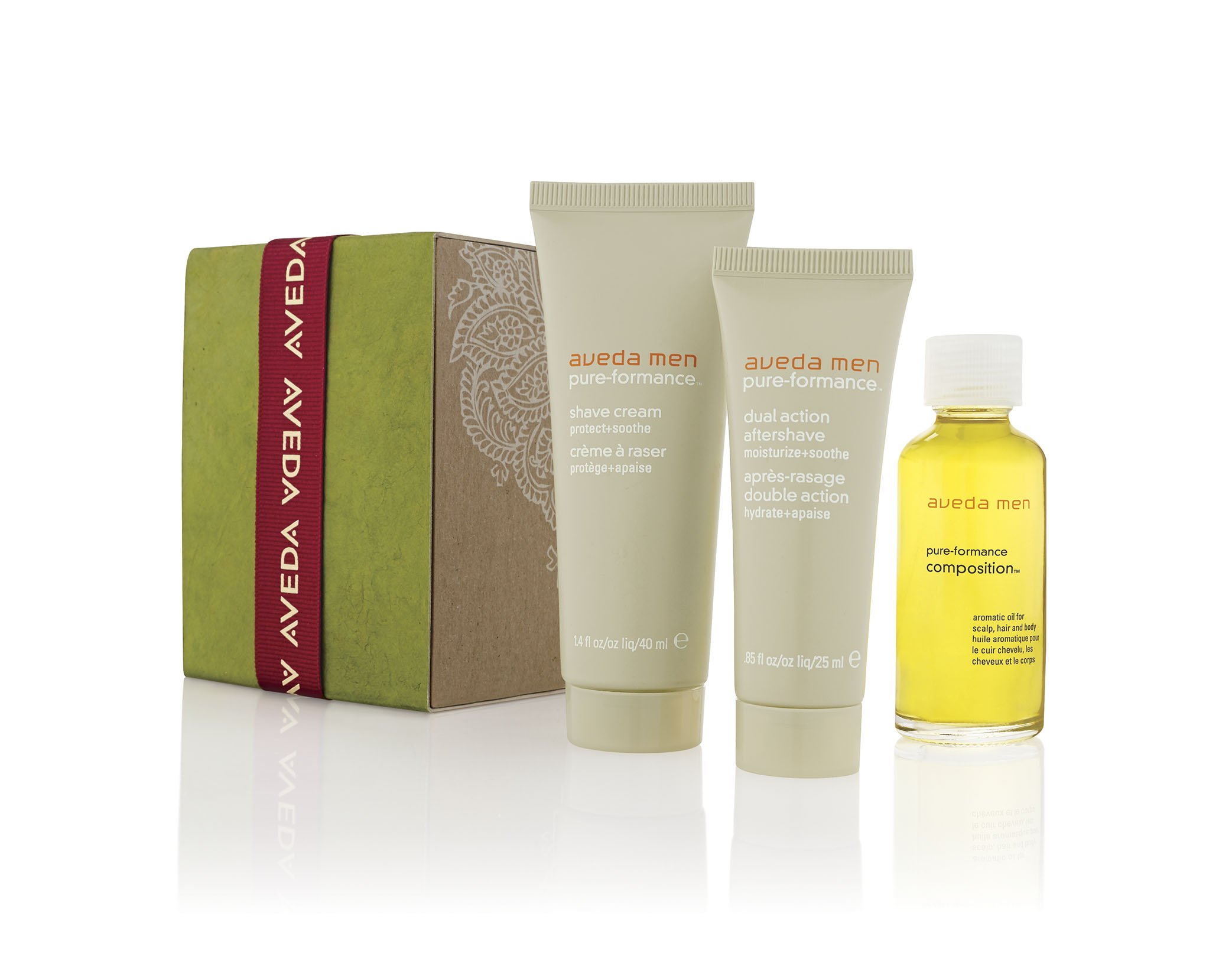 AVEDA Give Great Shaves MEN gift set cream composition aftershave travel