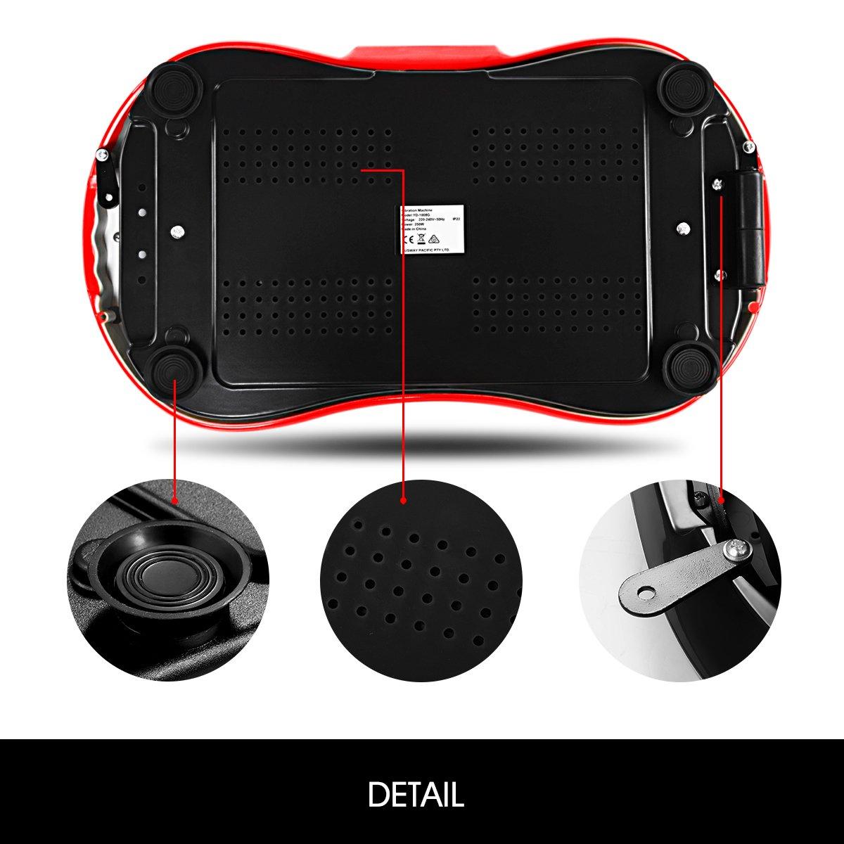 GENKI Fitness Vibration Platform Workout Machine Whole Full Body Shape Exercise Training Power Plate (Red) by GENKI (Image #7)
