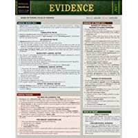 Evidence (Barcharts Quickstudy: Law)