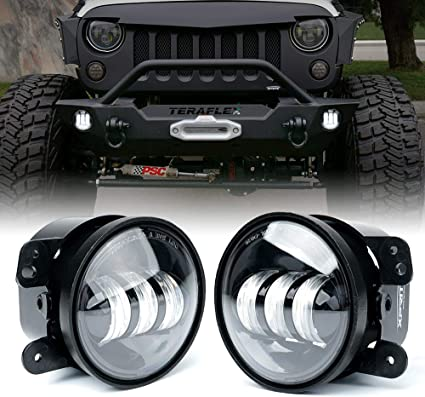 Jeep Wrangler Fog Lights >> Xprite 4 Inch Led Fog Lights For 07 18 Jeep Wrangler Jk Unlimited Jk Front Bumper Replacements 60w White Cree Led Chip Driving Offroad Foglights