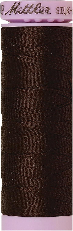 Black Peppercorn Silk-Finish 50wt Solid Cotton Thread 164yd