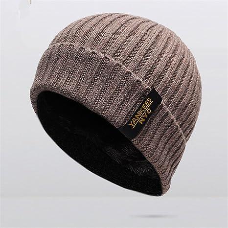 Berretto lavorato a maglia inverno berretti uomini Caps Gorras maschera  cofano caldo inverno larghi cappelli Natale 989342393eef