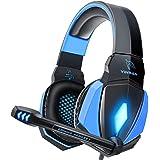 YINSAN Cascos Gaming, Auriculares Premium Stereo con Micrófono, Luz LED y Control Volumen, Diadema Acolchada y Ajustable…