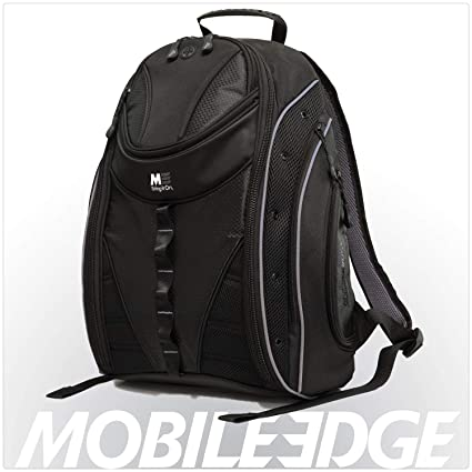 c8638266991f Mobile Edge Black w/Silver Trim Express Laptop Backpack 2.0 16 Inch PC, 17  Inch Mac for Men, Women, Students MEBPE22