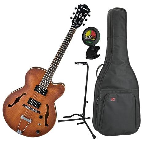 Ibanez af55tf tabaco soporte de cuerpo hueco eléctrico guitarra w ...