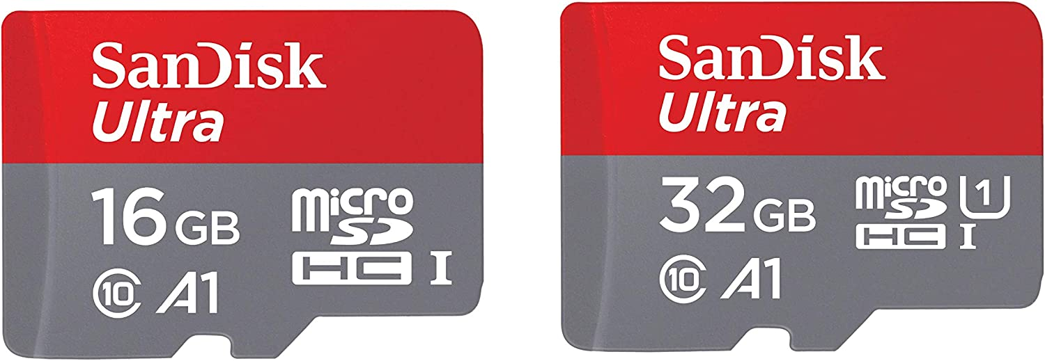 SanDisk 16GB and 32GB Ultra microSD UHS-I Memory Card with Adapter Bundle