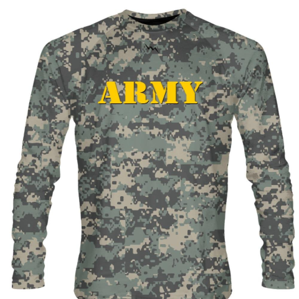 b8ab721720 HEAVY DUTY CAMOUFLAGE LONG SLEEVE SHIRT - Crew Neck Dye Sublimated Shirts ☆  LIT FIT MOISTURE MANAGEMENT MATERIAL - 100% Polyester Lit Fit Material ...