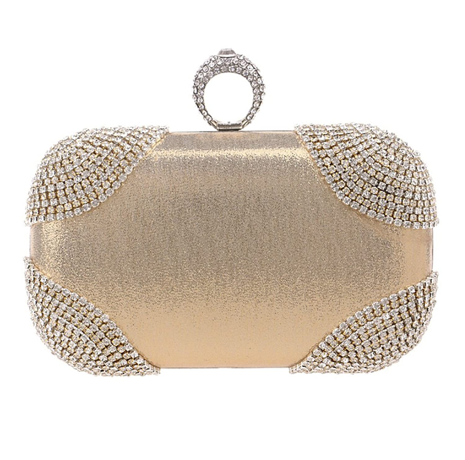 Abless Womens Glamour Elegant Evening Clutch Fashion Purse Chain Handbag -SK1121