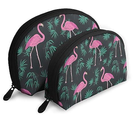 da958627bcc9 Amazon.com: Pink Flamingo Palm Leaves Pattern Multifunction Cosmetic ...
