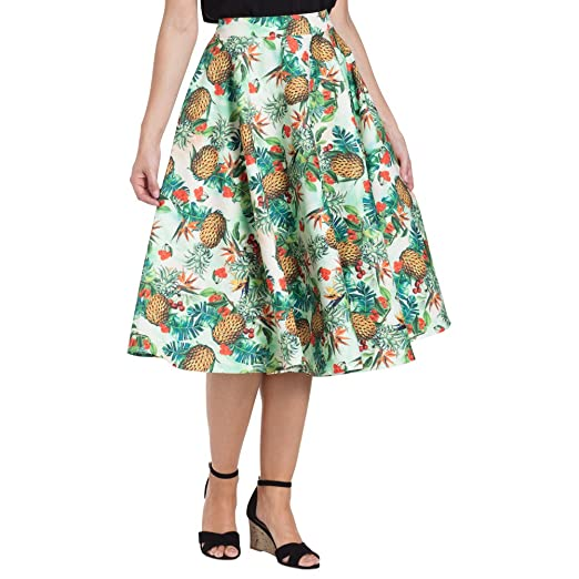 Retro Skirts: Vintage, Pencil, Circle, & Plus Sizes Voodoo Vixen Sandy Full Circle Skirt Green $44.99 AT vintagedancer.com
