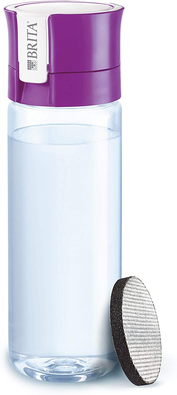BRITA Fill /& Go Vital GYM Water Bottle 600ml With 1 MicroDisc Filter BPA Free