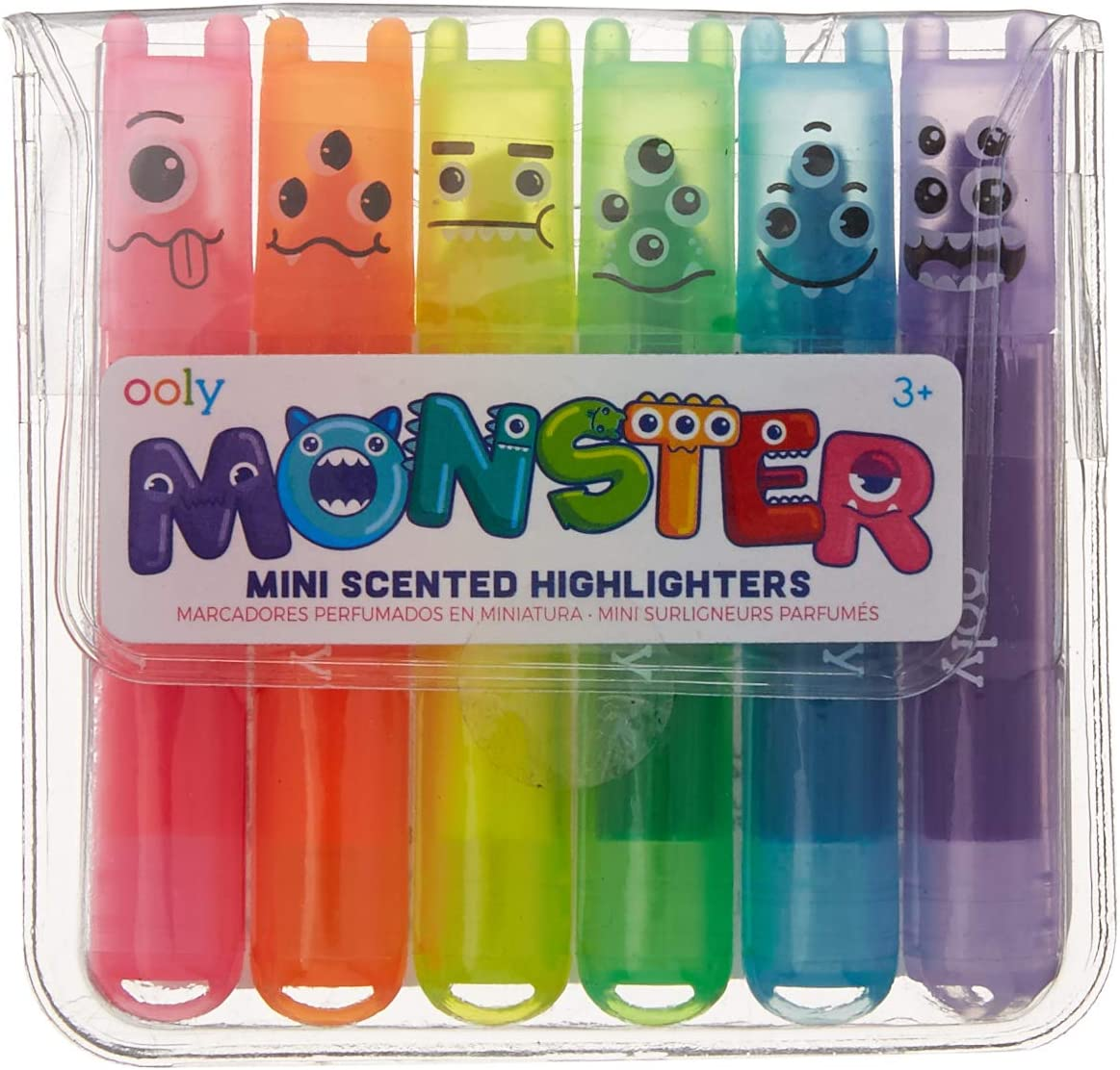 amazon com ooly mini monsters scented markers set of 6 130 24 office products ooly mini monsters scented markers set of 6 130 24