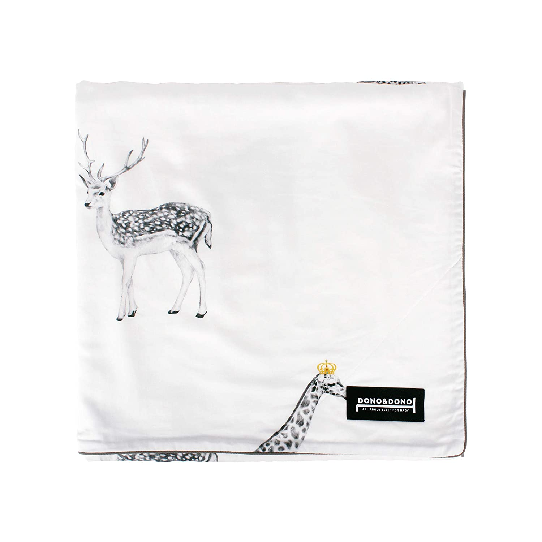 Dono、すべてのシーズンDonoクラシックBlanket 47x39 ホワイト DDFB-002  Retro Animal B078HKCX6R