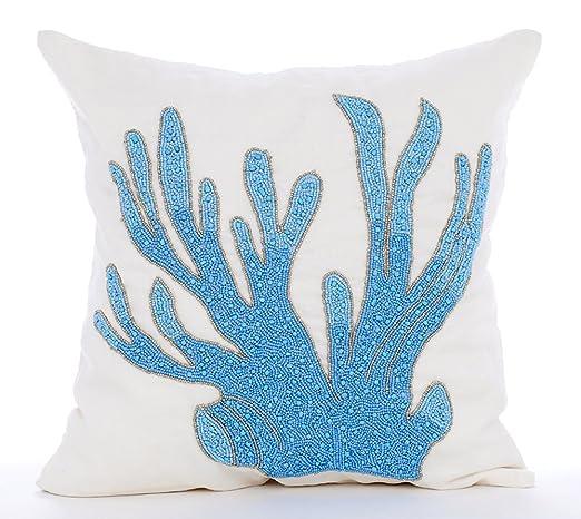 Lujo Turquesa fundas para almohadas, Moderno floral fundas ...