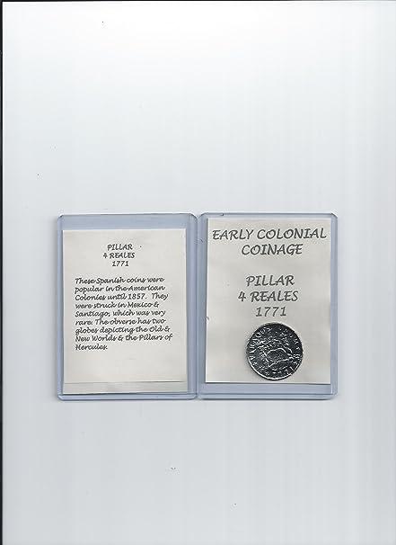 Replica Coin Pillar 4 Reales 1771