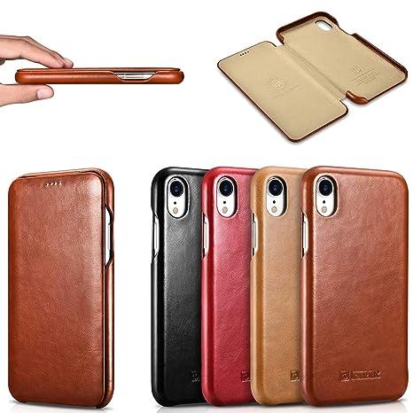 3863c6a0df 本革 iPhone XS Max iPhoneXR iPhoneXs ケース 手帳型 薄型 オイルレザー 牛革 アイフォンXS