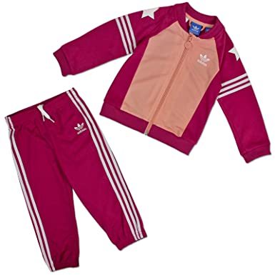 ADIDAS ORIGINALS SUPERSTAR KINDER SET JOGGER TRAININGSANZUG SPORT MÄDCHEN PINK