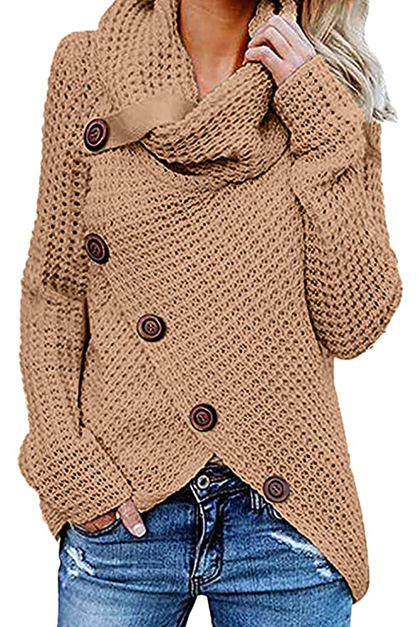 Women Pullover Sweater Khaki