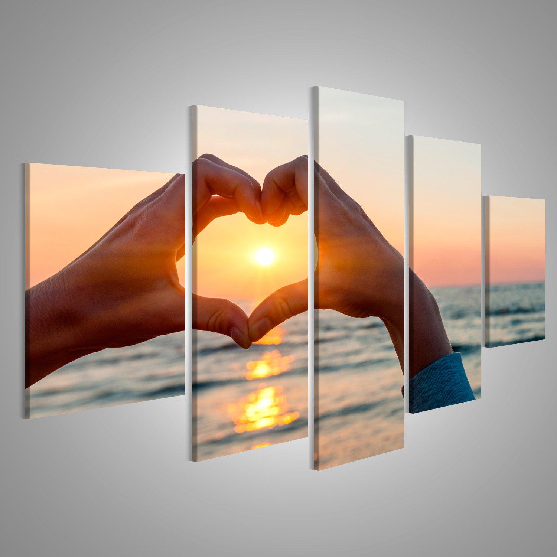 islandburner Bild Bilder auf Leinwand Hände und Finger in Herzform ...