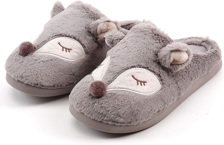 Donna Pantofole Scarpe Uomo Inverno Pantofola a Collo Basso Caldo Peluch Ciabatte di Cotone a Casa Unisex Ciabattine Chiuse