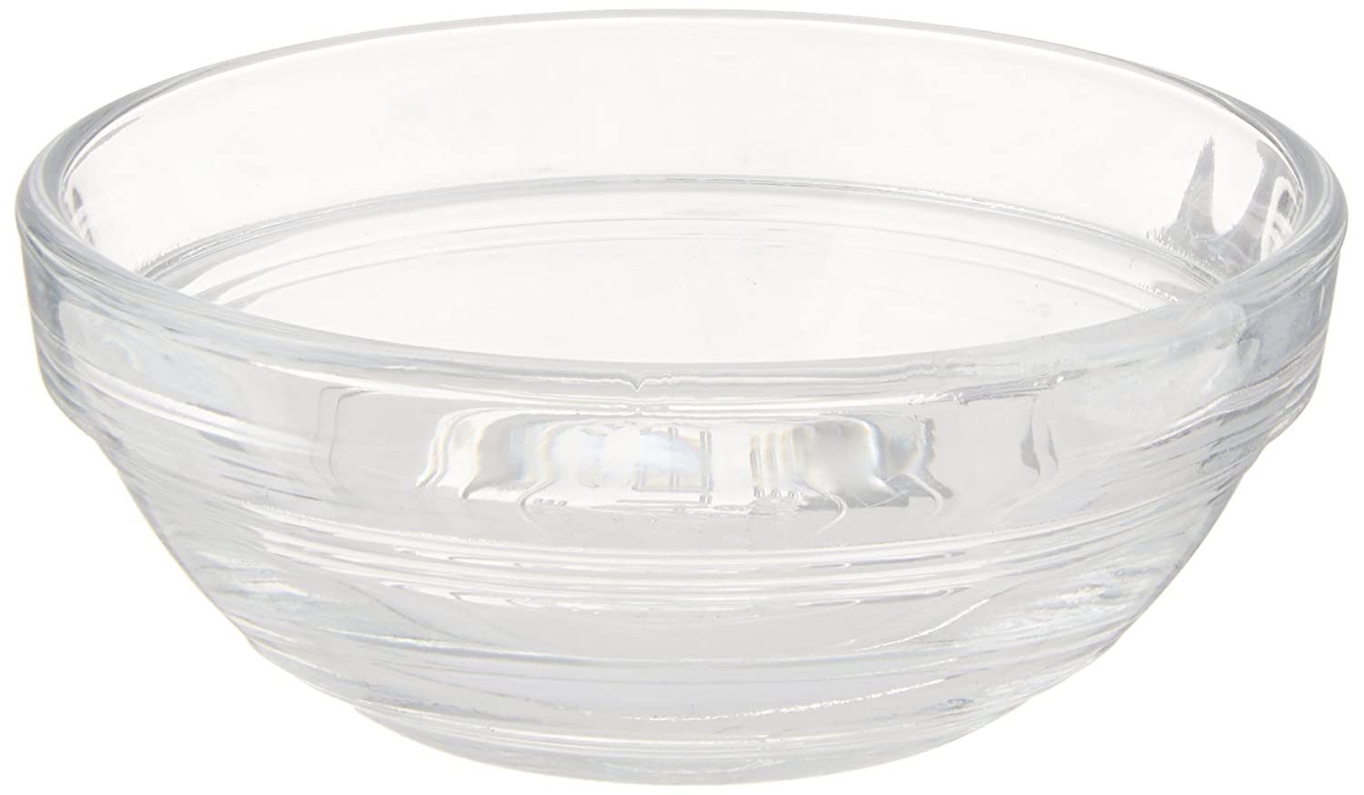 Duralex Lys Stackable 8 Piece Glass Bowl Set, 2 oz, Clear 2021AC04/8